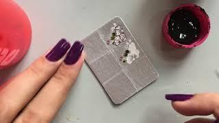 Adesivos de unhas na caixa de leite: Passo a passo flores fáceis e aplicação de adesivo