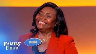 Saved! Happy castaway sees this wash up on shore! | Family Feud