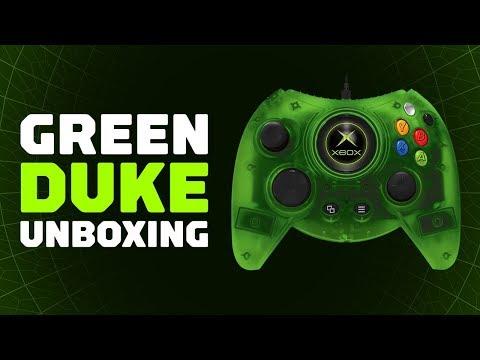 Распаковка нового зеленого геймпада DUKE для Xbox One
