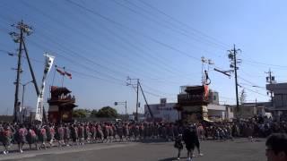 潮干祭2015 2 MAH02003石橋組「青龍車」神前神社前曳き廻し1