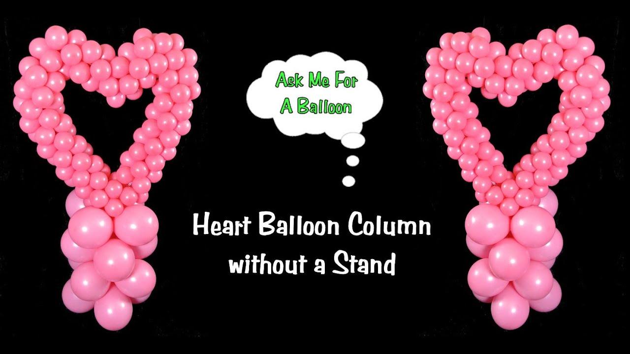 Heart Balloon Column Without Stand Balloon Decoration