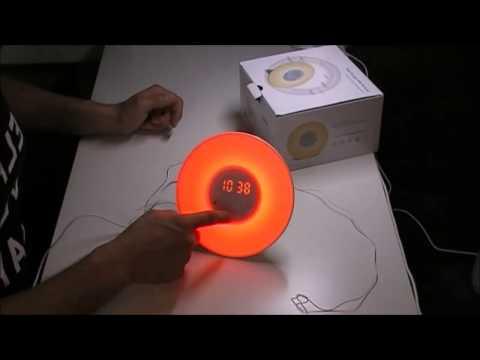 Amir Wake-Up Light, Lichtwecker, Wecker Lichtwecker, 6 Sounds, 5 Farben 4-Helligkeit,FM Radio