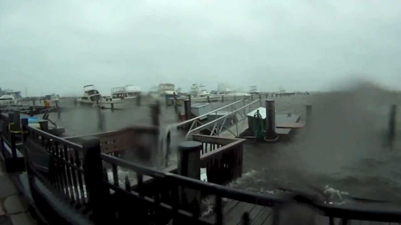 Atlantic Highlands Marina Hours Before Hurricane Sandy