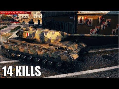 14 ФРАГОВ на 10 УРОВНЕ ? World of Tanks Super Conqueror thumbnail