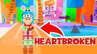 ROBLOX FASHION FRENZY | HEARTBROKEN AT THE KIDS CHOICE AWARDS | RADIOJH GAMES