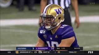 Jacob Eason (Washington QB) vs. California 2019