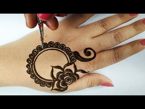 मेहँदी लगाना सीखे आसानी से - Stylish Floral Backhand Mehndi    Full Hand Shaded अरेबिक मेहँदी लगाएं