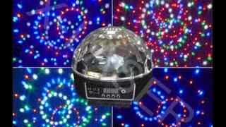 �������� ���� Led magic Ball Light Музыкальный Шар RGB 220v (посылка №59) ������