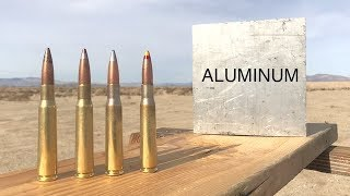 HOW STRONG IS ALUMINUM vs 50CAL