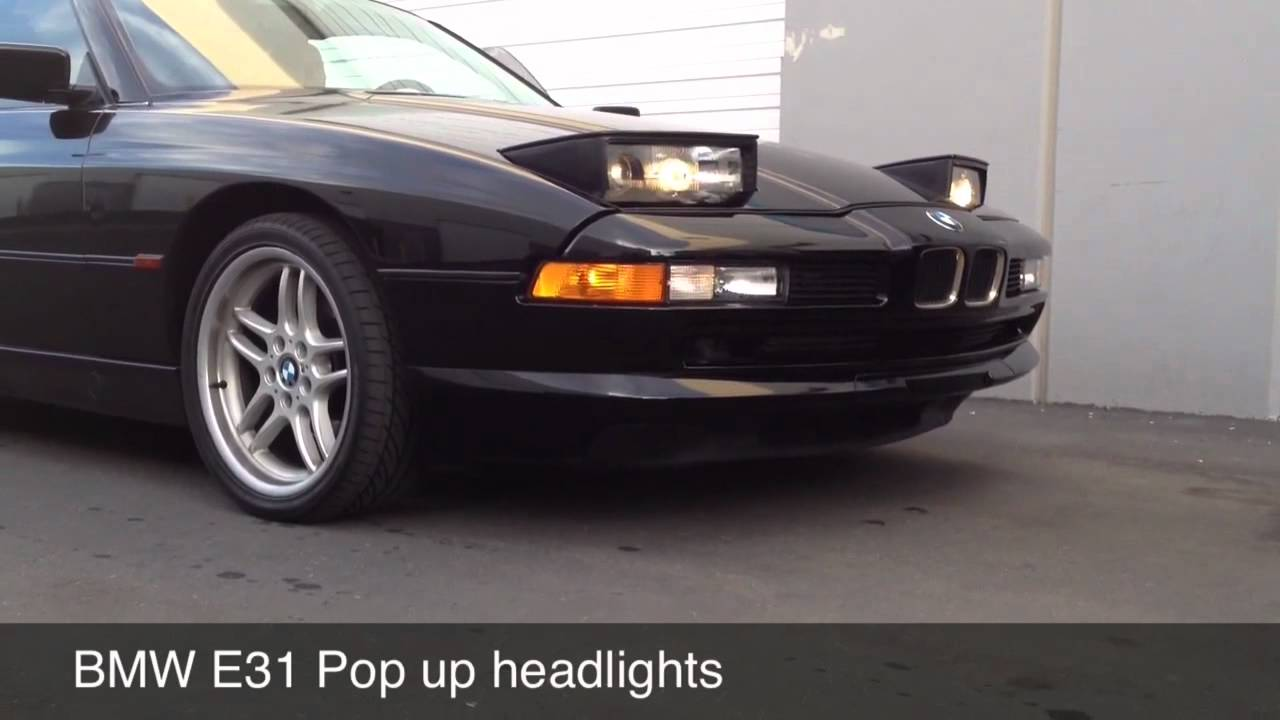 Coupe Series bmw 840 for sale BMW E31 840 850 Pop-up Headlights - YouTube