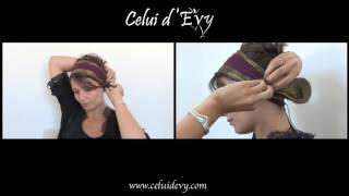 Tuto : porter le bandeau avec la fleur sous l'oreille   Celui d'Evy