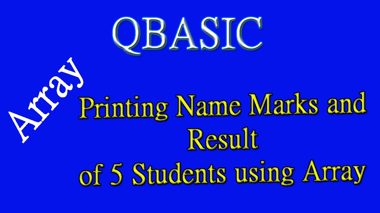 26 Print Name, Marks and Result of 5 Students using Array in Nepali