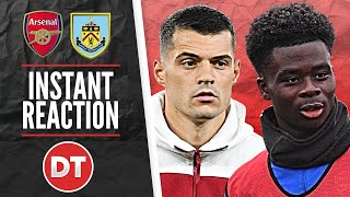 BURNLEY 1 v 1 ARSENAL | XHAKA, POOR FINISHING AND VAR COST US THE WIN | MATCH REACTION