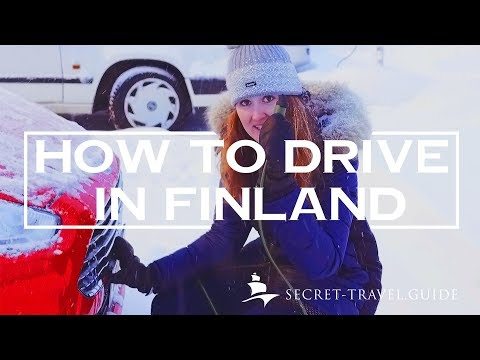 Driving a car in WINTER in FINLAND - What you NEED to KNOW