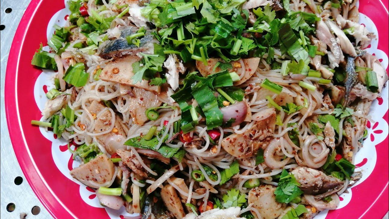 ยำขนมจีน ทำง่ายๆ สอนทำอาหาร by แม่โอ๋