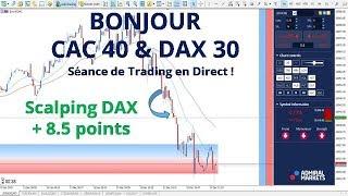 #DAX30 CFD - Séance de Trading en Direct - Bonjour CAC40 & DAX30 le 13/12