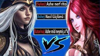 S8 TÜRKİYE ASHE 1.Sİ !! ASHE MİD VS KATARİNA !! | Ogün Demirci