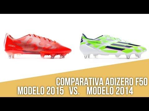 Comparativa adidas adizero f50: modelo 2015 vs modelo 2014