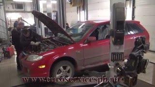 Установка пламегасителей на Mazda Protege  . Установка пламегасителей на Mazda Protege в СПБ .