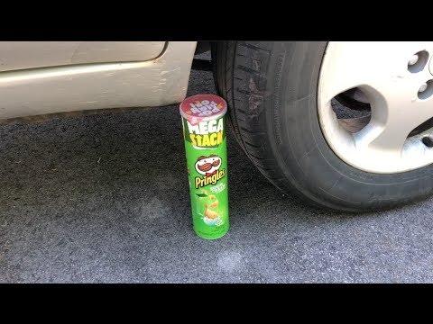 EXPERIMENT CAR VS PRINGLES MEGA STACK