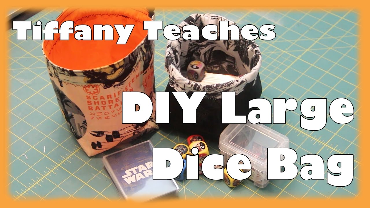 graphic regarding Dice Bag Printable Pattern called Tiffany Teaches: Do it yourself Major Reversible Cube Bag