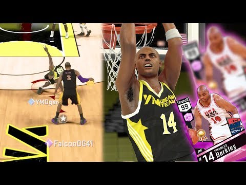 NBA 2k17 MyTEAM - Pink Diamond Charles Barkley Dunks On 2 Defenders! Ankle Breaker on Magic!
