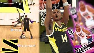 NBA 2k17 MyTEAM - Pink Diamond Charles Barkley Dunks On 2 Defenders! Ankle Breaker on Magic!