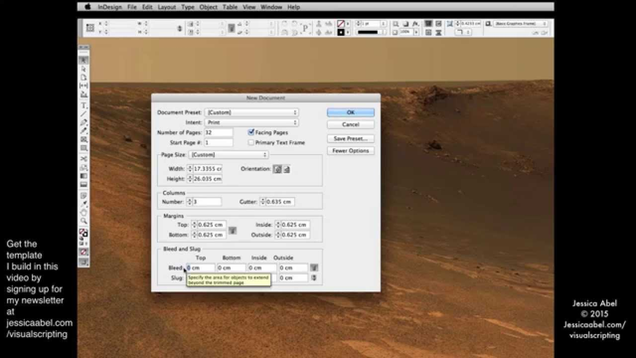 Create an InDesign template to use for Visual Scripting - YouTube