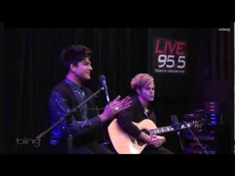 Never Close Our Eyes Acoustic Adam Lambert - Premier 3-25-2012