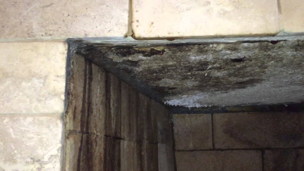 Fireplace water leak - YouTube