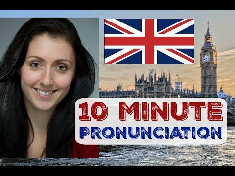 #18 British English Pronunciation in 10 minutes & QUESTIONS / LIVE ENGLISH LESSON - Diphthong Vowels