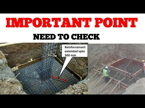 IMPORTANT POINT Need To Check Before  FOOTING FOUNDATION & COLUMN CASTING || CONSTRUCTION WORK-Hindi