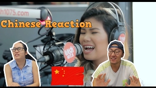 """Chinese React to Katrina Velarde nails """"Go The Distance"""" (Michael Bolton) LIVE on Wish 107.5 Bus"""