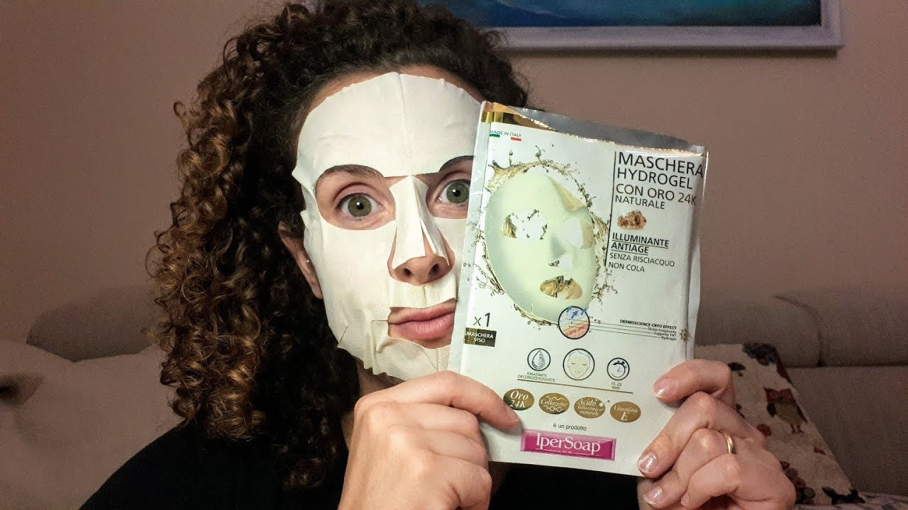 maschera viso 24 carati