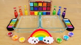 Download Rainbow - Mixing Makeup Eyeshadow Into Slime! Special Series 96 Satisfying Slime Video Mp3 and Videos