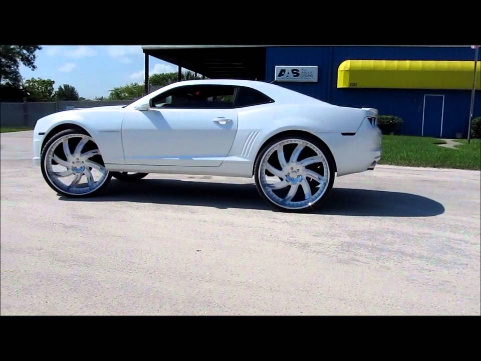 2011 White Diamond Chevy Camaro Lift For 30 S Forgiato S