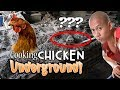 OMG! COOKING CHICKEN IN THE GROUND! | Vlog #13