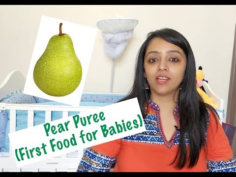 How to make Pear Puree for Babies (First Foods for Babies)
