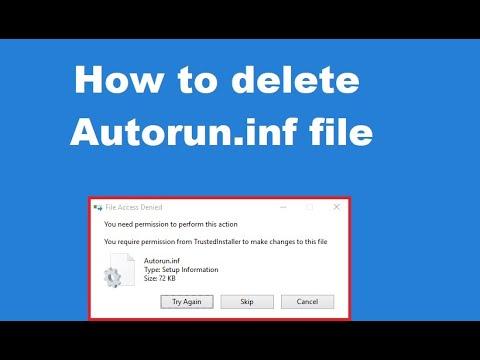 How to delete Autorun inf file