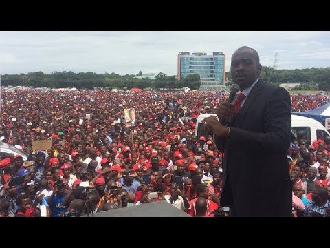 Exuberant Chamisa wows millions at Tsvangirai Farewell