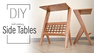 DIY Mid-century Side Tables