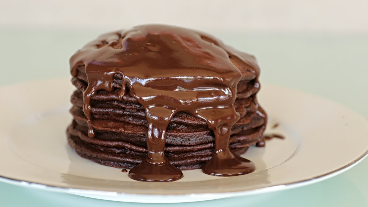 How To Make Chocolate Pancakes Youtube
