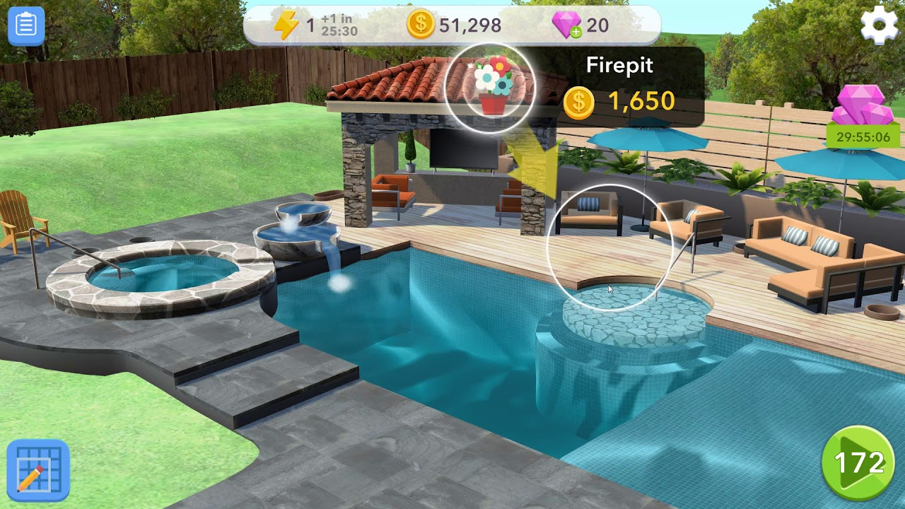 Home Design Makeover Part 5 Pool Gameplay Story Hd