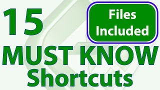 15 MUST KNOW Excel Keyboard Shortcuts to Speed-up Work