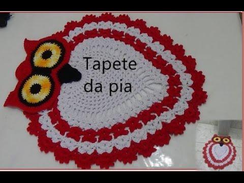 Tapete Da Pia E Do Vaso Jogo De Banheiro Coruja Youtube