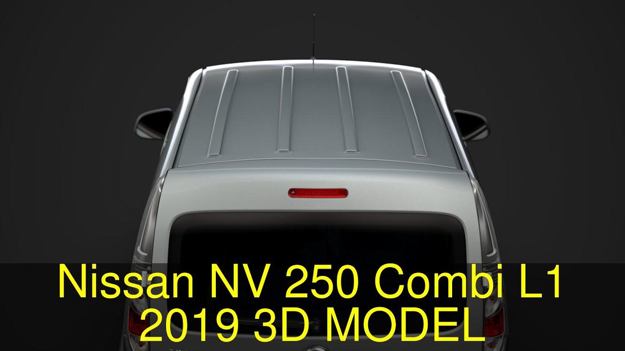 3D Model of Nissan NV 250 Combi L1 2019 Review