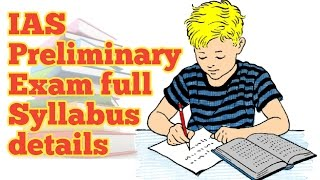 IAS prilims exam full syllabus