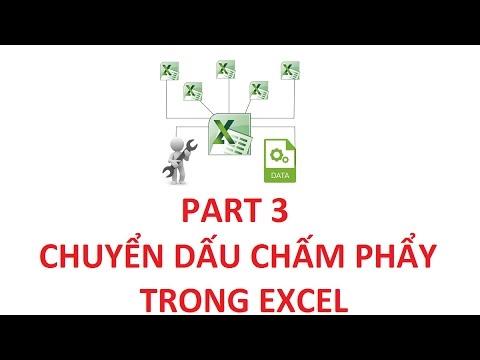 [Thủ Thuật Excel ] Bài 3 - Cách Chuyển Dấu Chấm Thành Dấu Phẩy Trong Excel  Siêu Nhanh