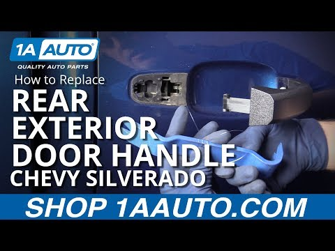 How to Replace Rear Exterior Door Handle 14-17 Chevy Silverado