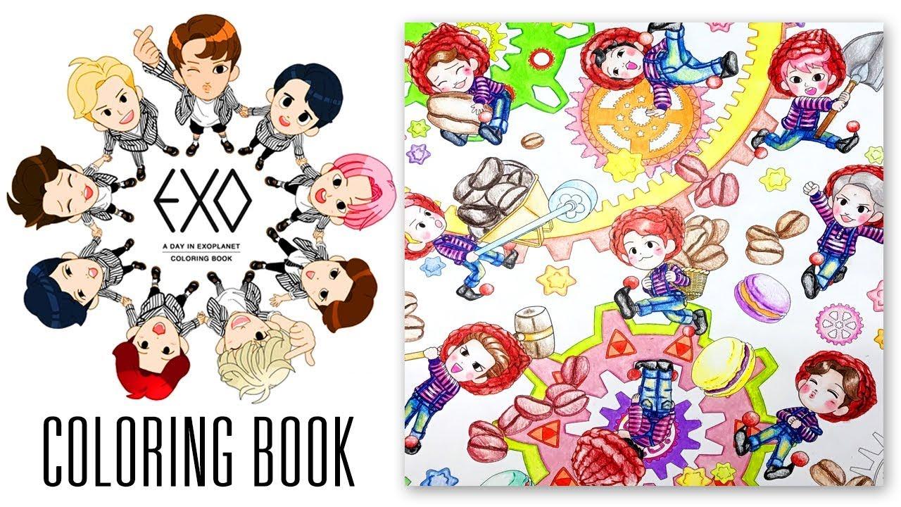 EXO Coloring Book